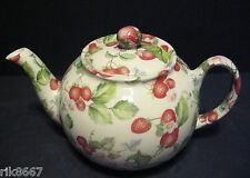 1 Heron Cross Pottery Strawberry Chintz English 3 Cup Tea Pot or 2 mugs