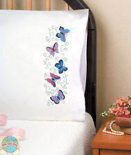 Embroidery Kit ~ Design Works Colorful Butterflies PILLOWCASE PAIR #T232046