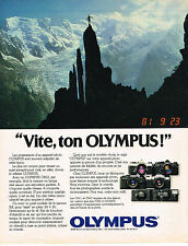 PUBLICITE ADVERTISING 014  1981   OLYMPUS  appareil photo