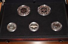 2017 Canada First Release LEGACY OF THE PENNY 5 Gold/ Silver Coins PROOF SET #68