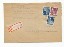 GERMANY 1948 Registered Cover To New York, Mailed To The New World Trading Co.