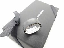 New David Yurman Sterling Silver & 9mm Forged Carbon Fiber Mens Ring Band Sz10