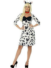Smiffy's Women's Cow Adult Costume Dress Headband and Choker Size Large 14-16