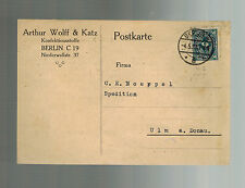 1923 Berlin Germany Inflation Postcard cover to Donau