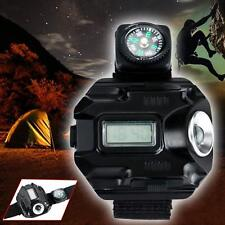Rechargeable LED 1000 Lm Tactical CREE Display Wrist Watch Flashlight Torch Lamp