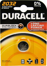 5 x Duracell CR2032 3V Lithium Coin Cell Battery 2032 GENUINE BRAND NEW