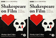 3 X SHAKESPEARE ON FILM ROYAL FESTIVAL HALL FLYER POSTCARDS