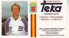 CYCLISME carte JOSE ANTONIO GONZALES LINARES (equipe TEKA)
