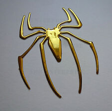 GOLD Chrome Effect Spider Badge Decal Sticker for Renault Twingo Laguna Coupe RS