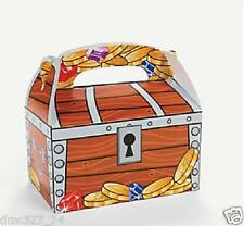 24 PIRATE Birthday Party Favor Goody Loot TREAT BOXES TREASURE CHEST