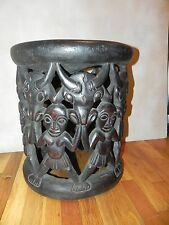 "Arts of Africa - Bamileke Stool - Cameroon - Grassland - 19"" Height x 16"" Wide"