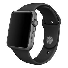 Black 42mm Silicona Reemplazo Sport Band Pulsera Correa Para Apple Reloj Iwatch