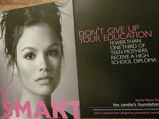 Rachel Bilson, Candie's Foundation, Two Page Ad