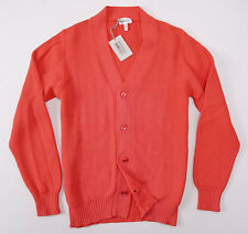 NWT $825 BRIONI Coral Pink Heavier-Knit Cotton Cardigan Sweater Slim M (Eu 50)