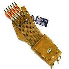 CAROL TRADITIONAL SIDE/HIP/BELT/WAIST SUEDE LEATHER ARROW QUIVER AQ142 (R/H)