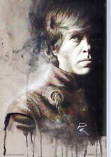 TYRION LANNISTER / Peter Dinklage Print HAND SIGNED by ROB PRIOR w COA