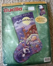 NIP Bucilla Visions of Sugarplums Christmas Stocking Counted Cross Stitch Kit