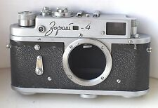 1963! ZORKI-4 Russian Rangefinder Camera body Leica III Copy M39 Tested!