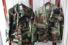 1990's US Marine Corps BDU Camouflage Shirts (2)/Hats (2) -S-Woodland Camo-SALE