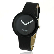 Fashion Black Idol Face Case Women Men Quartz Wrist Watch Bracelet Slim Band Uhr