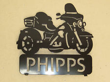 CUSTM HARLEY STYLE AMERICAN TRIKE MOTORCYCLE MAILBOX TOPPER (YOUR NAME)