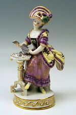 MEISSEN FIGUR KARTENSPIELERIN FEMALE CARD PLAYER ACIER MODEL F 64 VINTAGE 1910