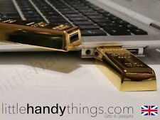 Luxury Gold Bar 16GB USB Flash Drive Portable Pen Drive Storage Gift