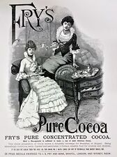 Reproduction Print Antique Vintage Advertisement - Fry's Pure Cocoa