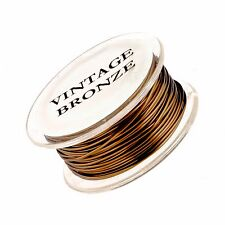 16 Gauge Permanently Colored Round Wire. Vintage Bronze Colored. 15 Feet.