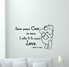 Winnie the Pooh Quote Wall Decal Vinyl Sticker Nursery Disney Love Decor 173crt