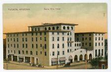 AZ, Tucson. SANTA RITA HOTEL. Early Printed Postcard
