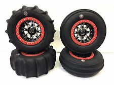 "HIPER 14"" DESERT RAT BEADLOCKS RIMS GMZ SAND STRIPPER PADDLE TIRES RZR XP 1000"