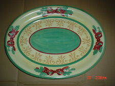 Villeroy And Boch MERRY WINTER Huge Platter #2 Bows Mistletoe And Holly