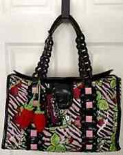 Vintage Betseyville Betsey Johnson Strawberry Fields Zebra Animal Travel Bag
