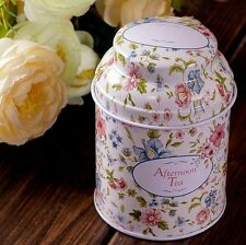 Zakka Vintage Tea Candy Metal Box Seal Canister Bottle Storage Container TR0067