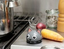 Kikkerland Kitty Kitchen Timer NUOVO/ORIGINALE Gatto da cucina Cronometro 60 Min