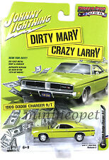 JOHNNY LIGHTNING JLCP6000 DIRTY MARY CRAZY LARRY 1969 DODGE CHARGER R/T 1/64