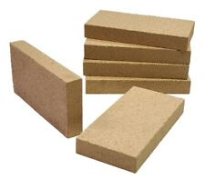 "Clay Fire Bricks 1"", for Stoves - Pizza Ovens Cookers - Set of 5"