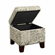 Dorel Asia Script Cube Ottoman With Storage