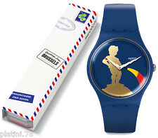 SWATCH KATJE GREETINGS BRUXELLES 2016 SPECIAL SUOZ712 NEW IN BOX RARE LIMITED
