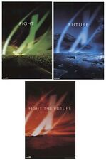 THE X-FILES ~ FIGHT THE FUTURE 3 POSTER SET 23x35 MOVIE LOT Xfiles X Files TV