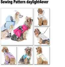 Dog Pet Coat Vest Dress Clothes Sewing Pattern 6218 McCall's New #i