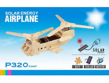 CH47 Military Helicopter 3D Model Solar Panels DIY Plywood Kits Sun Education