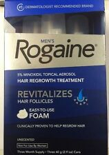 Men's Rogaine - Easy to Use Foam - Unscented - 3 Month Supply - NEW -