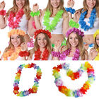 Hot 4X Multicolor Hawaiian Beach Leis Flower Necklace Tropical Luau Party Decors