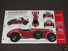 1929-1933 ALFA ROMEO 6C 1750 (1932) Car SPEC SHEET BROCHURE PHOTO BOOKLET