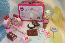 Kaper Kidz Children Pretend Play Wooden Candy, Lollies & Sweets Set in Tin! 11pc