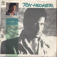 "TOM HOOKER - Looking for love - VINYL 7"" 45 LP ITALY 1986 NEAR  MINT COVER VG+"