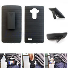 Armor Hybrid Rugged Protective Hard Case Cover + Belt Clip Holster For LG G4