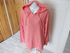 GEORGE CORAL COTTON LIGHTWEIGHT HOODED LONG SLEEVE LEISURE CARDIGAN SIZE 18